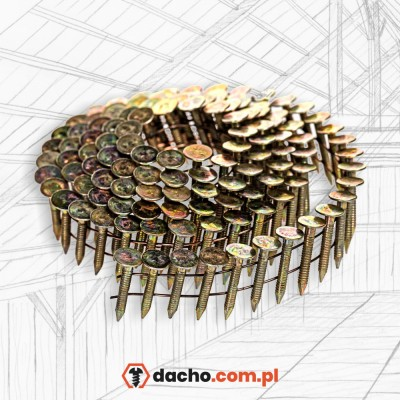 Gwoździe papowe - papiaki 25mm pierścieniowe ocynkowane
